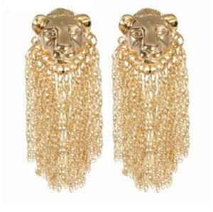 Jewelry - COUTURE TIGERS HEAD EARRINGS
